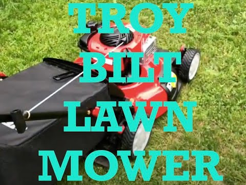 Troy Bilt Lawnmower Unboxing Assembly and Usage Model 421854