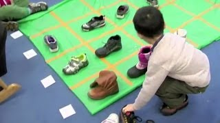 Graphing Shoes on a Grid with Pre-k ELLs (Early Math Collaborative at Erikson)