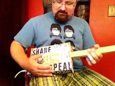 Volume Tricks, Flute Sounds Steel Guitar - How to Play Cigar Box Guitar - Shane's Hot Licks