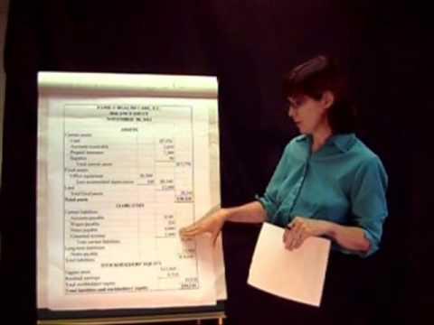 Accounting Basics: Lesson 6 - Preparing a Classified Balance Sheet - part 1