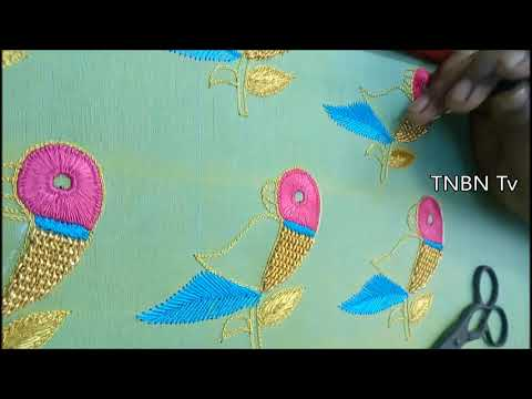 latest maggam work designs | simple pattu blouses | new blouse back neck models with hand embroidery