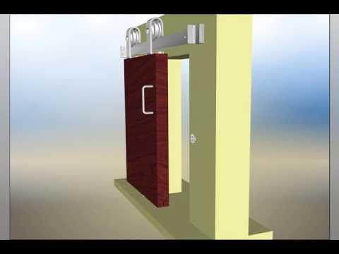 INOX™ Privacy Barn Door Lock installation