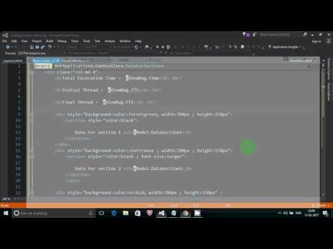 Basic  Async  and Await controller in mvc