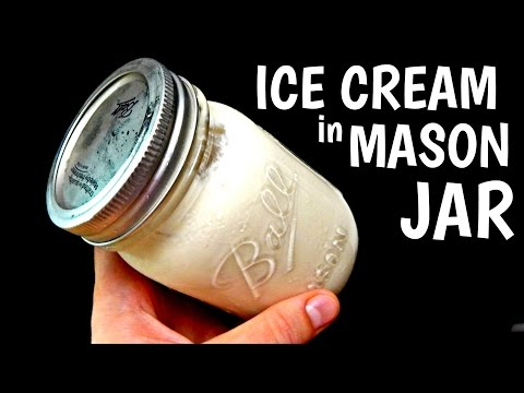 MASON JAR ICE CREAM At Home - Inspire To Cook (DIY, How To Make Ice Cream At Home) HD