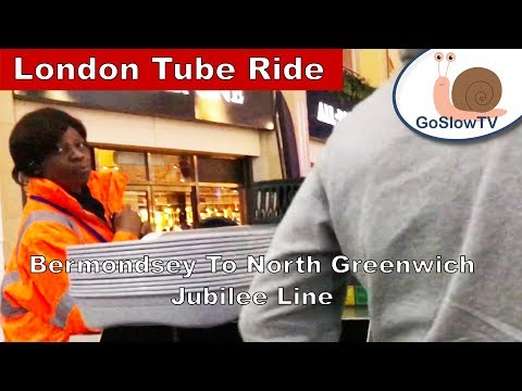 London Underground Tube Ride | Bermondsey / Cineworld O2 Arena | Jubilee Line | Slow TV | Episode 30