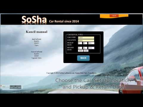Web Programming Project : Car Rental Web Page