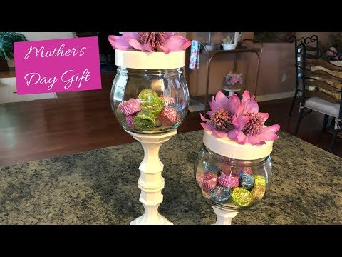 Dollar Tree Mother's Day Candy Jar Diy