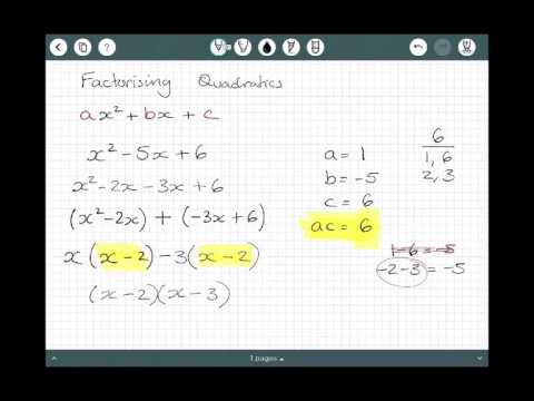 Factorising a Quadratic when a = 1