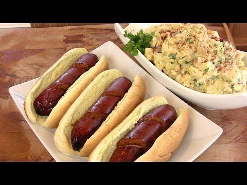 Louisiana Style Hot Links & Classic Potato Salad featuring Silva Sausage Company