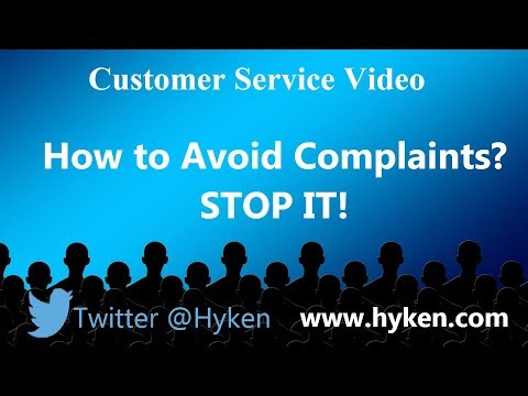 How to Avoid Complaints - Customer Service Training Lesson