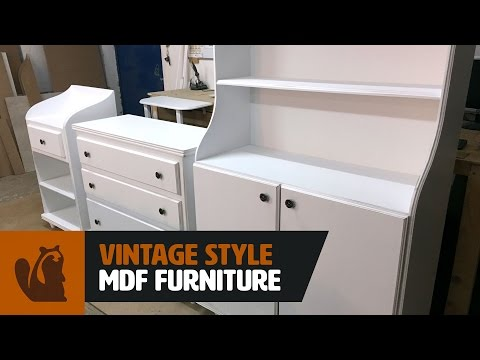 Woodworking Project : Vintage Style MDF Furniture