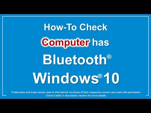 How to Check if Computer has Bluetooth in Windows 10