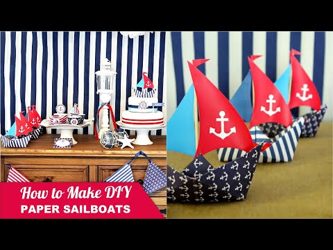 How to Make a Paper Sail Boat for Yor Party Desserts Table