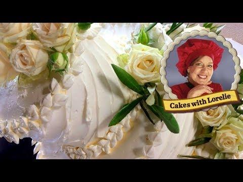 Rustic Lavender Rosemary Wedding Cake