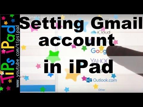 iPad. Gmail. Setting gmail account in iPad