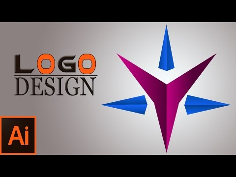 Professional Logo Design-Star Logo In Illustrator - Illustrator CS6