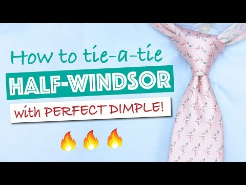 How to Tie a Half Windsor Knot with Dimple (step-by-step)