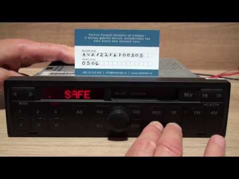 Audi - Chorus M4 - Blaupunkt dekodiranje pomoću koda