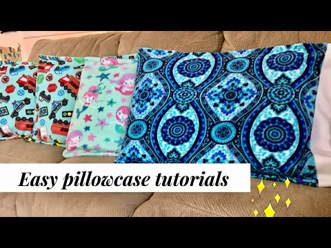 Sewing pillowcase # Easy Sewing project No.28