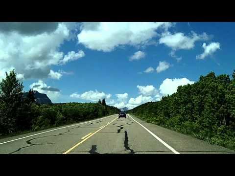 Chief Mountain Highway to Waterton Park, Canada Dashcam