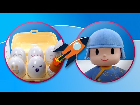 Pocoyo learns all the colors with Tomy Eggs