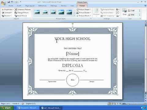 Word 2007 Tutorial 17 - Making A Certificate With A Template.mp4