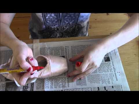 How To Colour Pointe Shoes