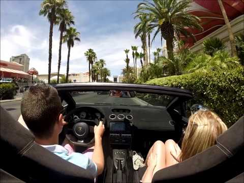 Driving around Las Vegas in a Lamborghini Gallardo LP570-4 Spyder Performante!