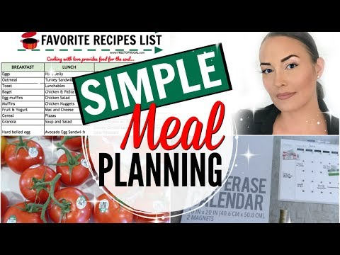HOW TO MEAL PLAN MONTHLY ON A BUDGET ● MONTHLY MEAL PLANNING MADE EASY ● SIMPLE MEAL PLAN TIPS