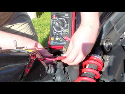 Troubleshooting a motorcycle starter solenoid R2v1