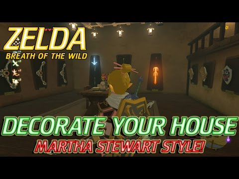 Zelda Breath of the Wild - Owning and Decorating your own house