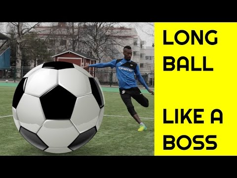 Long ball TUTORIAL | How to kick a soccer ball far | How to ping a soccer ball