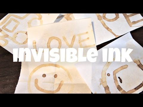 Invisible Ink - How to Write Secret Messages