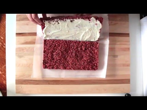 Red Velvet Rice Crispie Treats