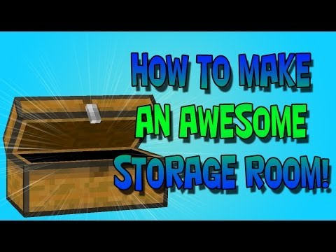Minecraft Tutorial - How To Build Large Storage Rooms