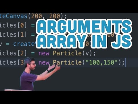 9.17: Arguments Array in JavaScript - p5.js Tutorial
