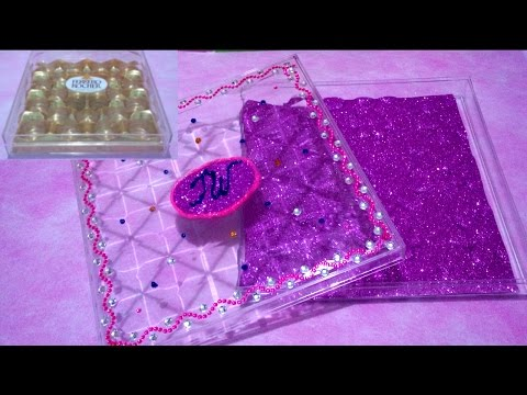 DIY - How to Make Your Own Accessory Jewelry Box Tutorial ♥ Recycle Ferrero Rocher Box