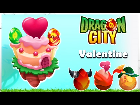 Dragon City - Valentine's Island + All Dragons | Completed Walkthrough