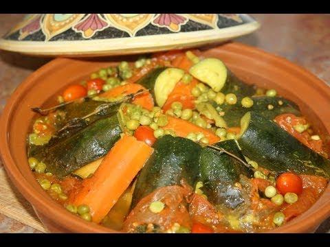 Moroccan Vegetable Tagine Recipe - Recette Tagine Marocain aux Légumes - Recettes Maroc