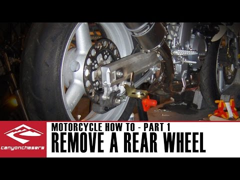 How to Remove and Replace your Rear Motorcycle Wheel (Part 1)