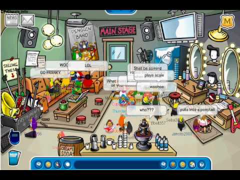 Franky and Petey K on Club Penguin