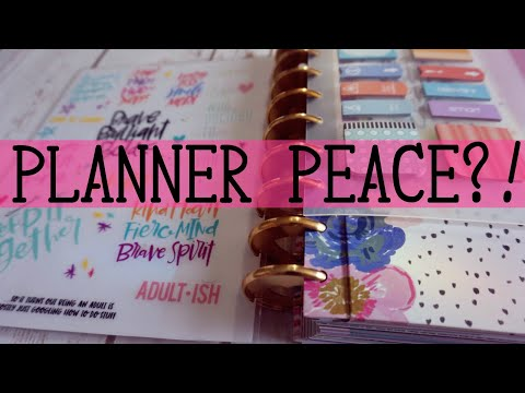 FLIP THROUGH OF MY UPDATED CLASSIC HAPPY PLANNER | HAPPY PLANNER SETUP 2017-2018