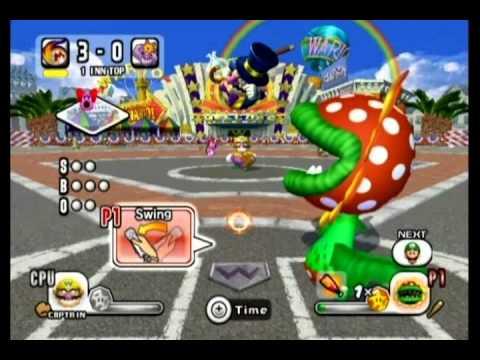 Mario Super Sluggers 100% Walkthrough Part 20 - Vs. Wario Muscles