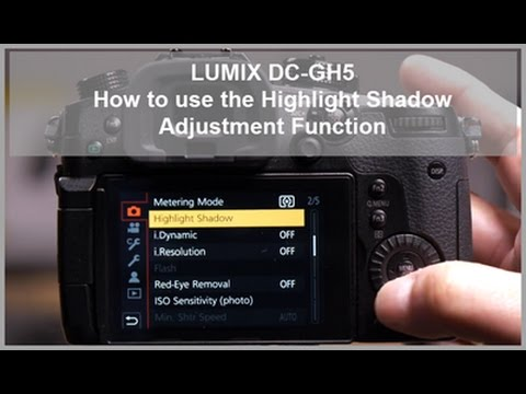 LUMIX - How to use the Highlight Shadow Adjustment function - DC-GH5, DC-GH5S, DC-G9