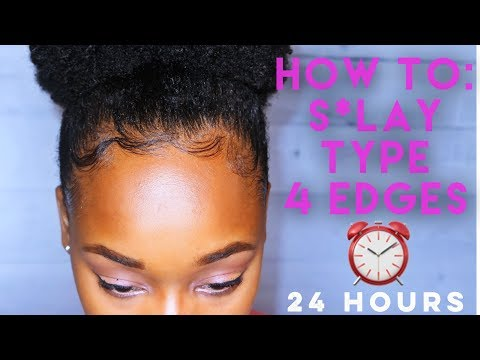 How to | Lay Baby hair | for 24 Hours| Type 4 hair