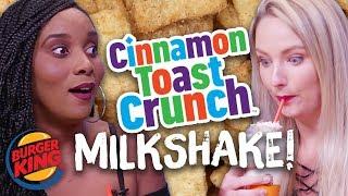CINNAMON TOAST CRUNCH MILKSHAKE from Burger King! (Cheat Day)