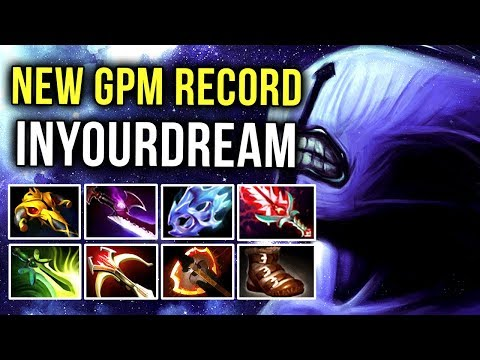 inYourdreaM TOP 1 MMR Player, Highest GPM Ever World Record with Void in Super Major - Dota 2