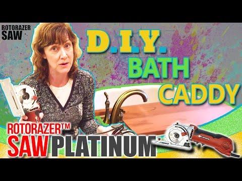 DIY Wooden Bath Caddy for Bathtub 🛀 Bathroom 🚿 Shower 🛁 Over the Tub Portable Tray