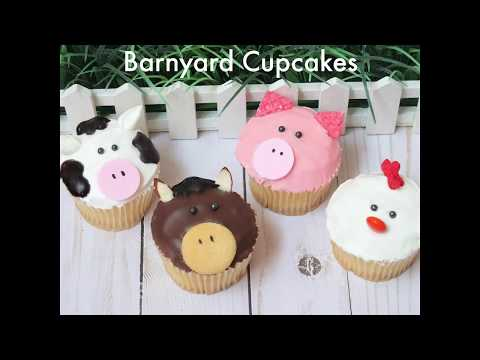Barnyard Animal Cupcakes Tutorial