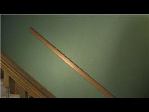 Trim & Molding : How to Install a Chair Rail Going Up the Stairs